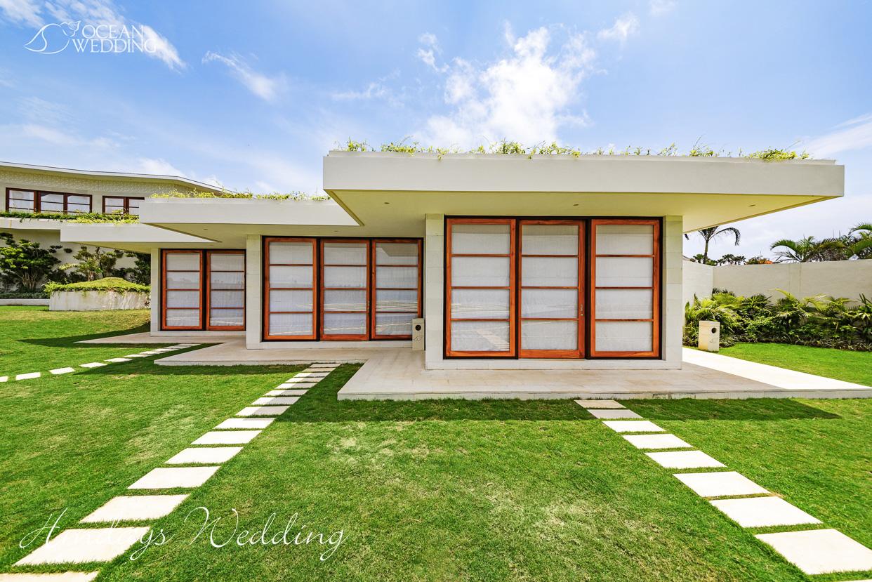巴厘岛梦幻岛准备间外景 巴厘岛梦幻岛婚礼山庄准备间及休息室