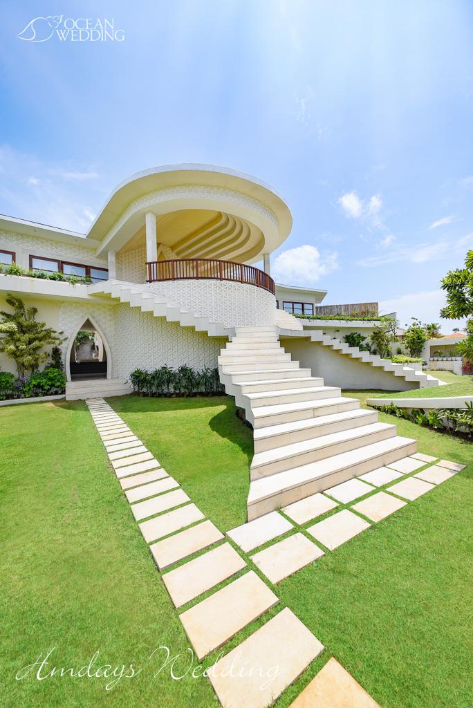 巴厘岛梦幻岛大堂外景图 巴厘岛梦幻岛婚礼山庄准备间及休息室