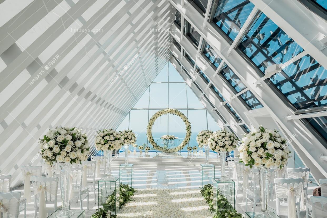 升级布置 巴厘岛白鸽教堂婚礼