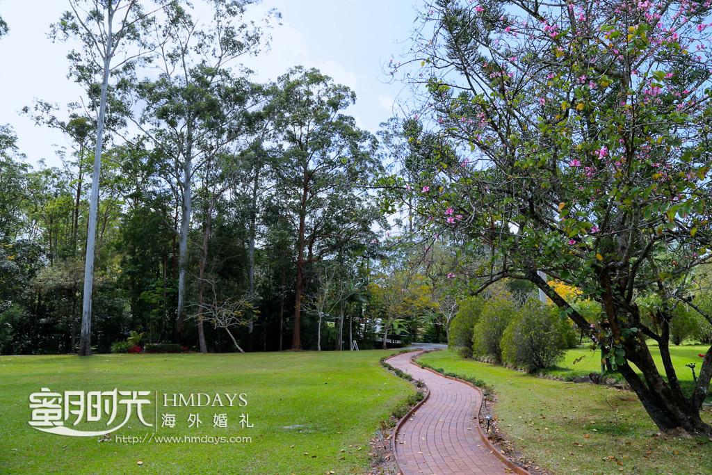 一条小路曲径通幽 澳洲婚礼庄园内景