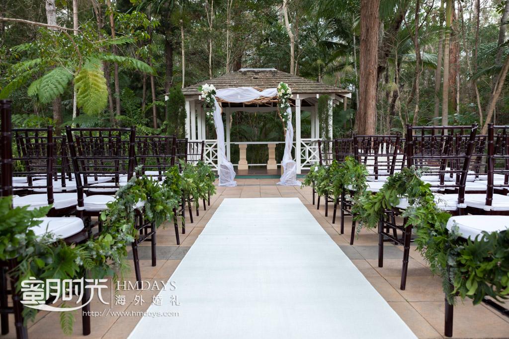 婚礼现场布置好了 澳洲庄园森林婚礼