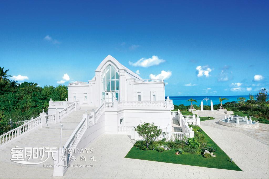 圣洁的lumer教堂非常漂亮 冲绳露梅尔(海之光)教堂婚礼