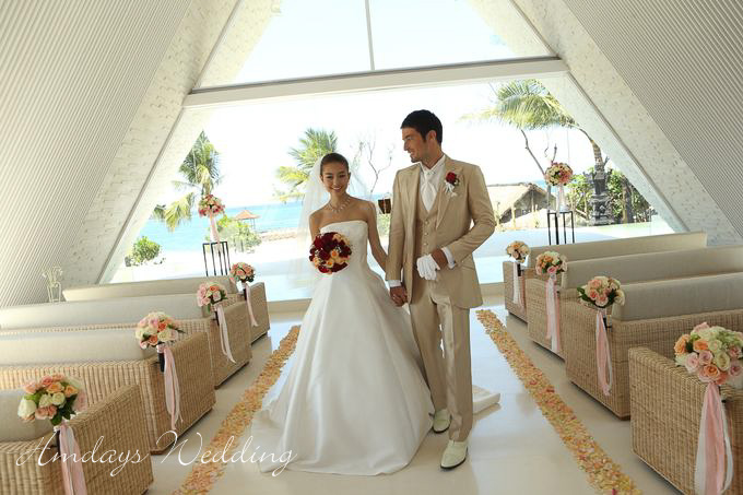 巴厘岛香堤教堂婚礼