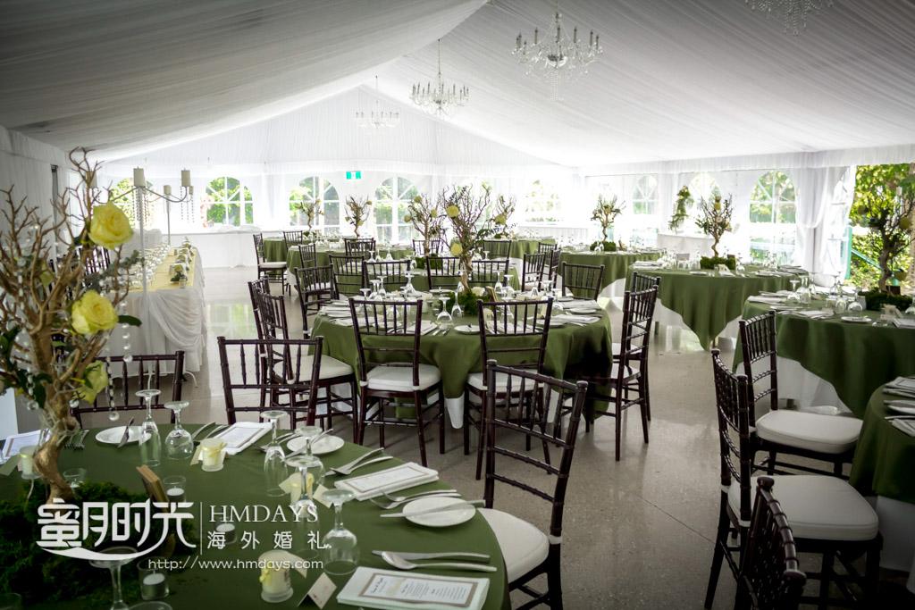 晚宴布置 澳洲庄园婚礼晚宴