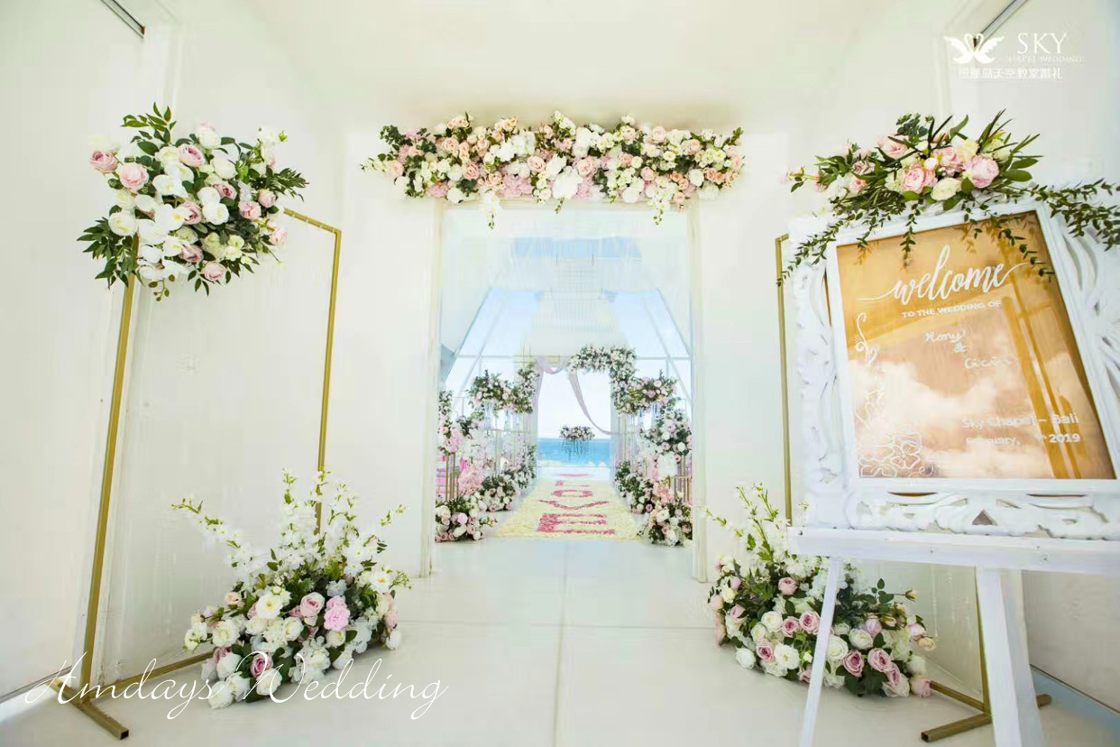 巴厘岛天空教堂婚礼 2019年 免费布置