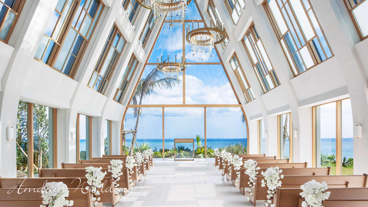 满溢自然之美与温度的教堂 冲绳美之教堂婚礼