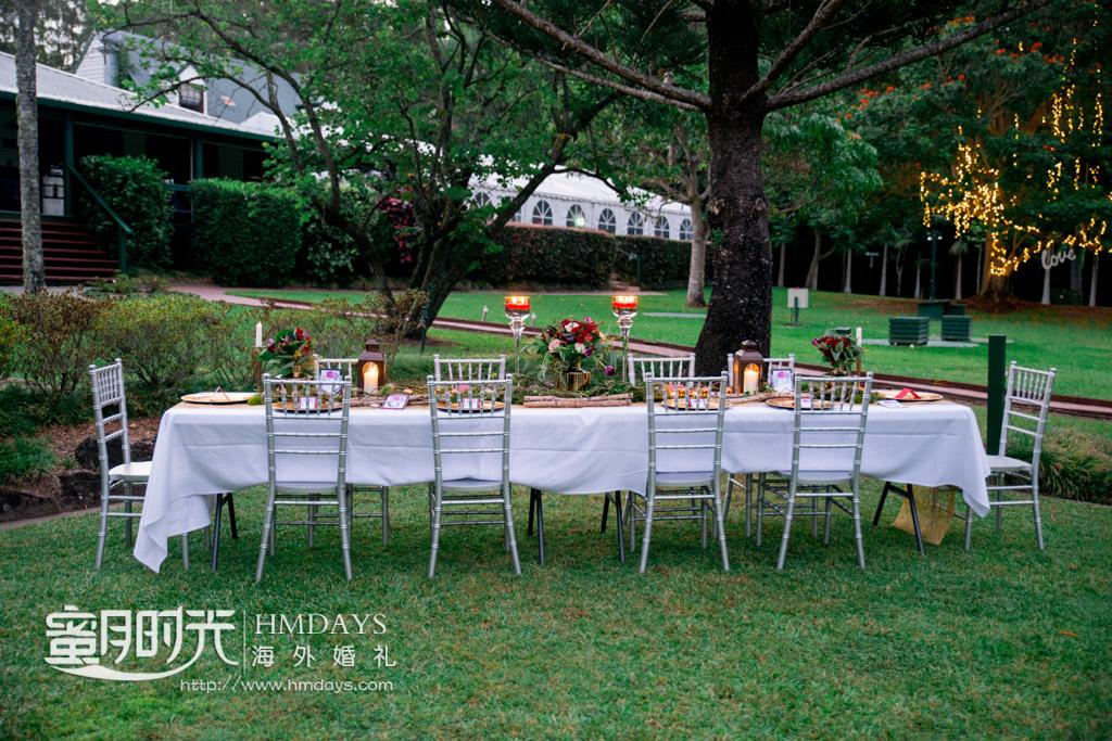 婚礼晚宴长桌 澳洲庄园婚礼晚宴