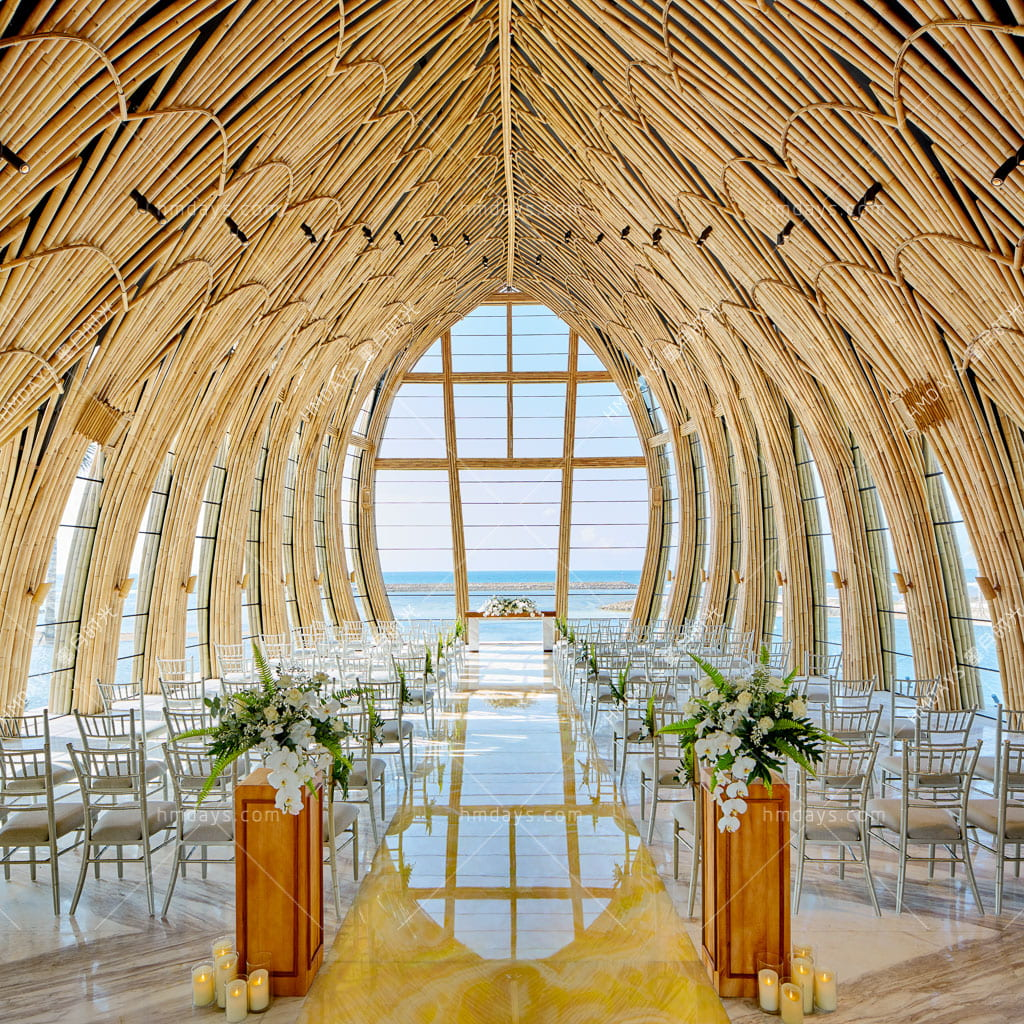 标准婚礼布置 巴厘岛凯宾斯基海景大教堂婚礼