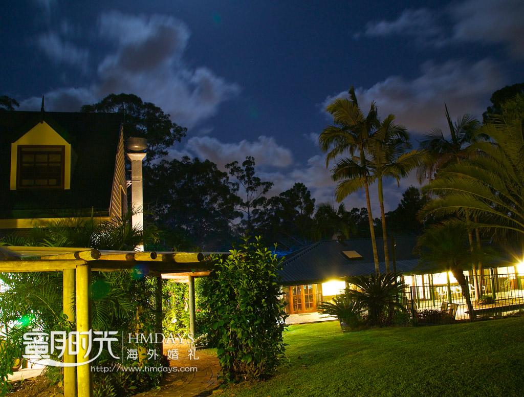 迷人的庄园夜色 澳洲婚礼庄园内景
