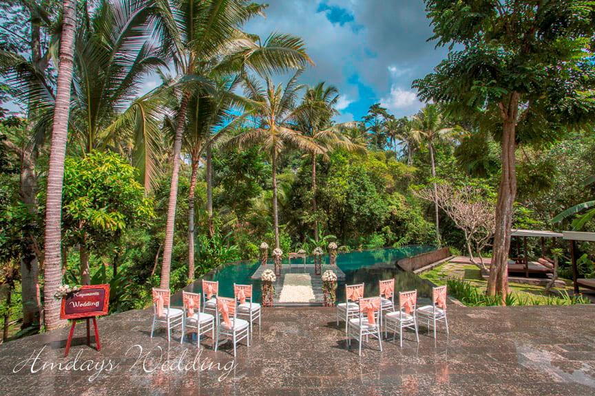 乌布肉桂水台婚礼 巴厘岛肉桂乌布婚礼