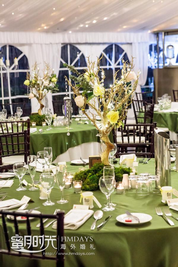 晚宴基本布置 澳洲庄园婚礼晚宴