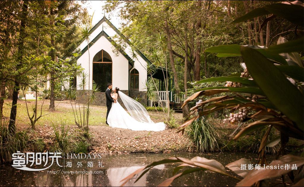 庄园草坪婚礼拍摄 澳洲庄园教堂婚礼