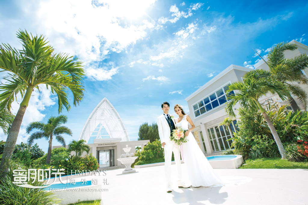 在飞亚教堂所在的okuma酒店取景 冲绳飞亚(海之空)教堂婚礼