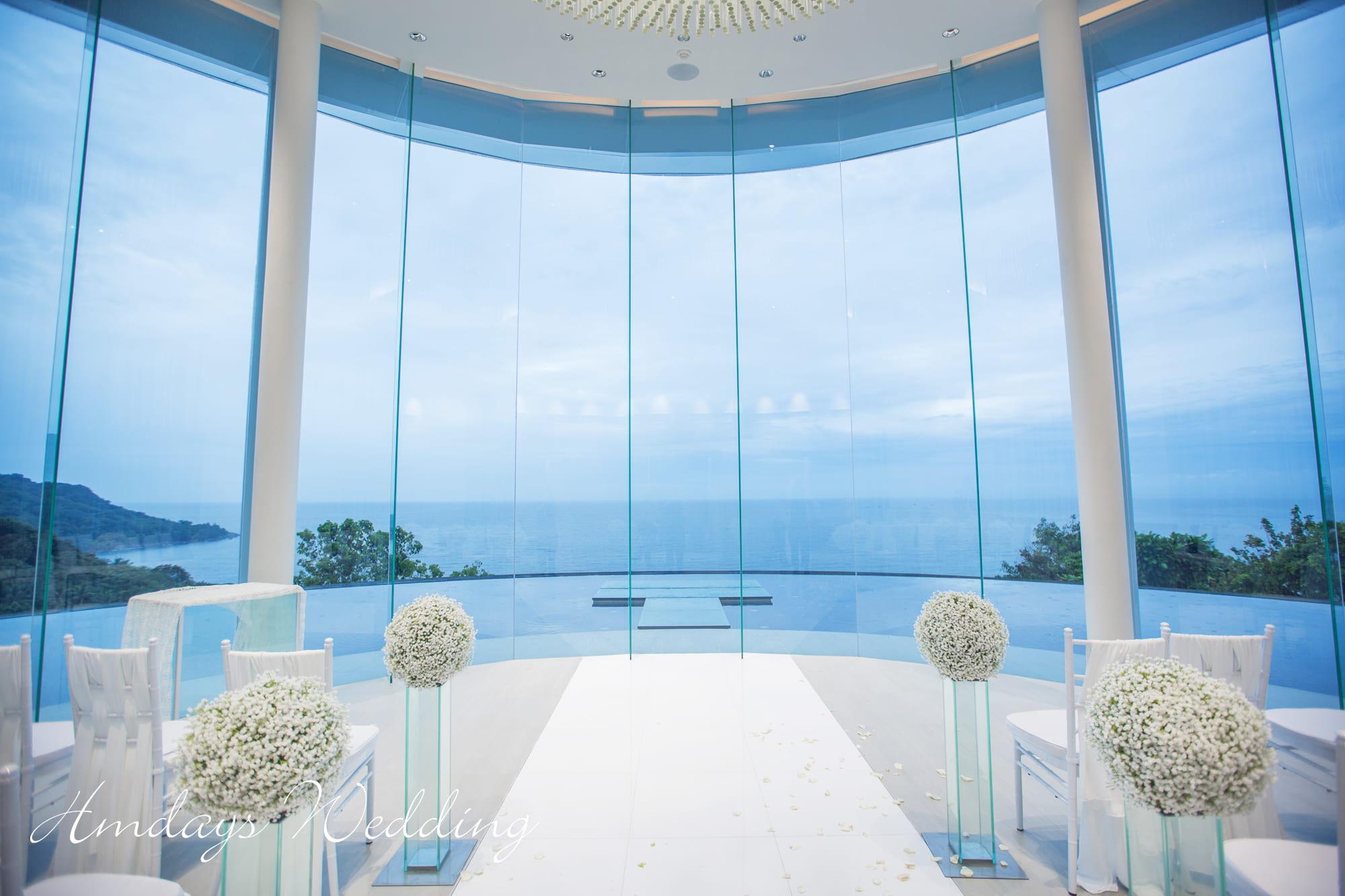标准布置 普吉岛海岸教堂婚礼