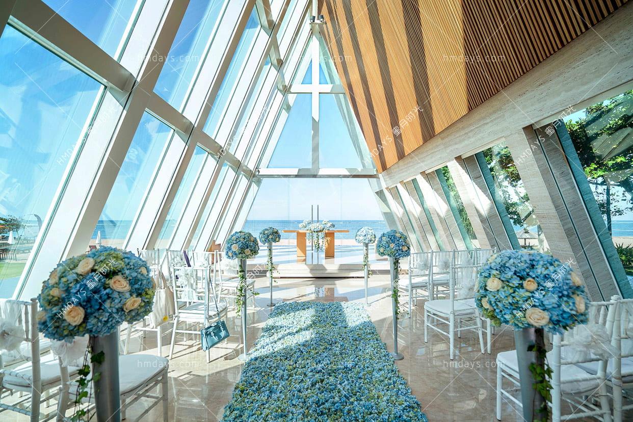 独家免费升级布置 巴厘岛港丽无限教堂婚礼