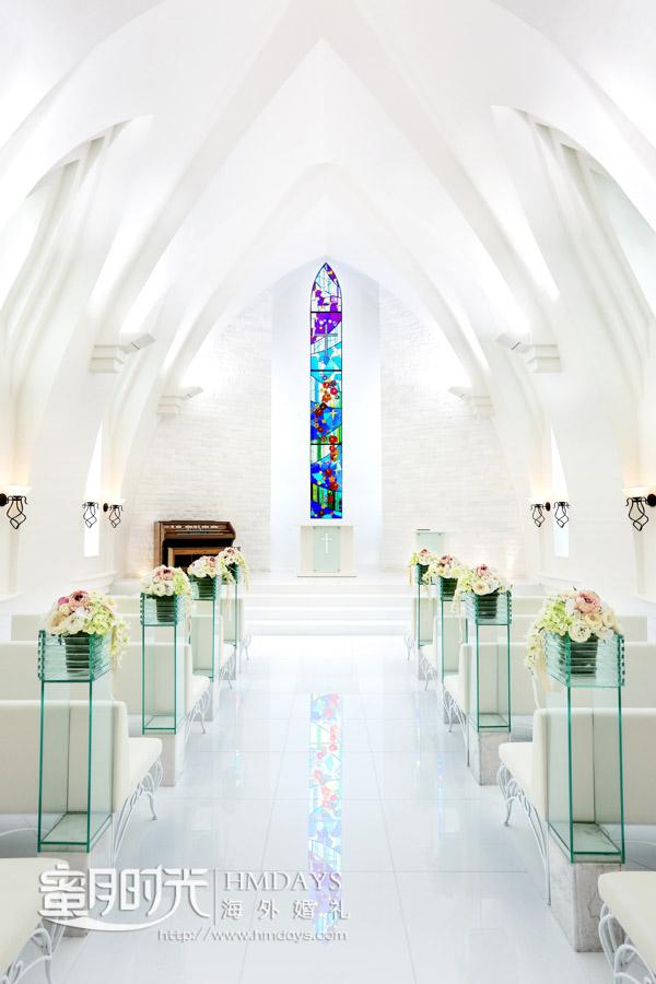 教堂内部 冲绳斯黛拉(海之缘)教堂婚礼
