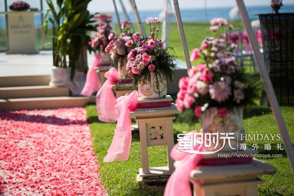 巴厘岛美乐滋Mirage教堂婚礼布置图