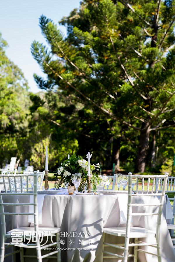 户外晚宴布置 澳洲庄园婚礼晚宴