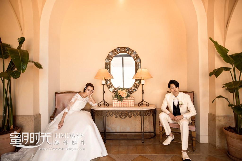 在酒店内随处合影 冲绳星耀(海之耀)教堂婚礼