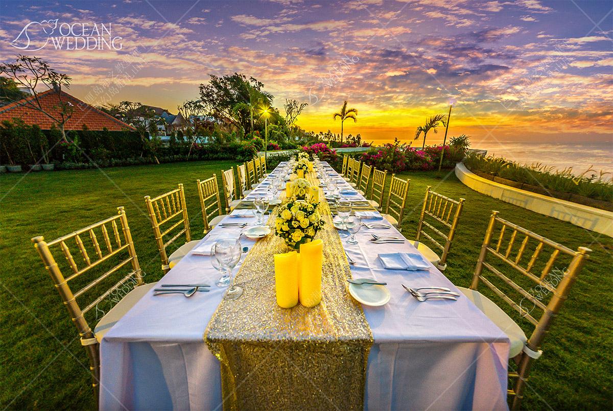 巴厘岛_梦幻岛婚礼山庄晚宴_免费布置 巴厘岛 梦幻岛婚礼山庄晚宴 免费布置