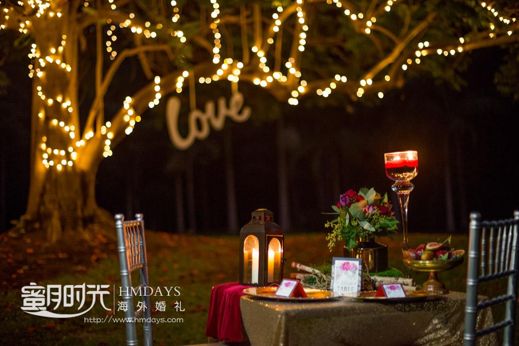 浪漫海外婚礼晚宴 澳洲庄园婚礼晚宴