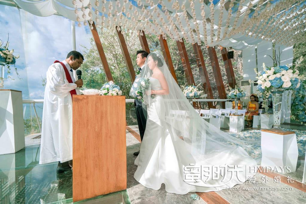 巴厘岛水晶教堂婚礼布置