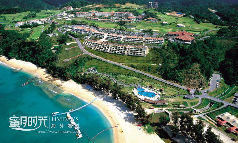 Kanucha_Bay_Hotel___Villas_Okinawa_酒店航拍 冲绳斯黛拉(海之缘)教堂婚礼