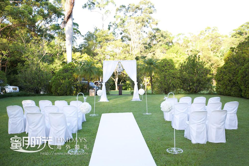 草坪仪式婚礼 澳洲庄园草坪婚礼
