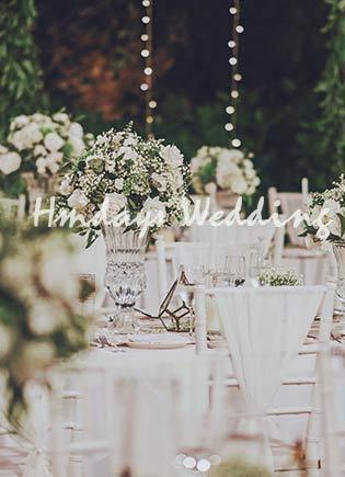 reception decoration wedding at Alila Cabana bali