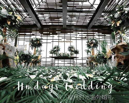 the green theme wedding upgrade decoration by HMDAYS at Alila Villas Bali