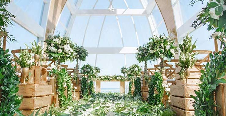 forest theme wedding decoration at Ritz-Carlton nusa dua bali indonesia