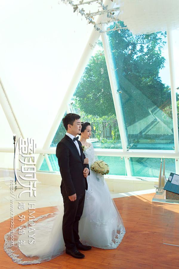 水之教堂婚礼 水之教堂婚礼仪式中 海外婚礼