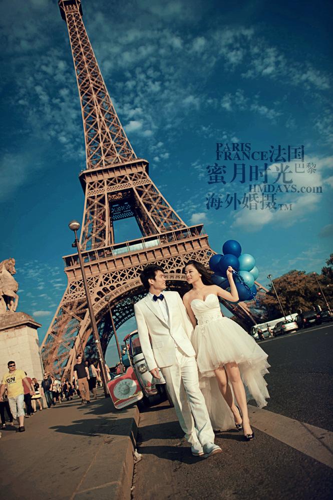 法国巴黎市区一日拍摄|法国巴黎婚纱照|海外婚礼