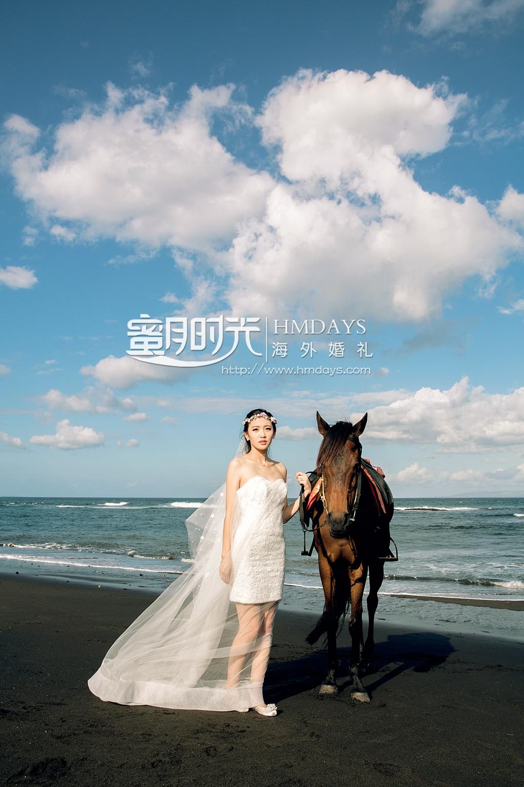 巴厘岛珍珠教堂婚礼加外景跟拍|巴厘岛黑沙滩婚纱摄影|海外婚礼