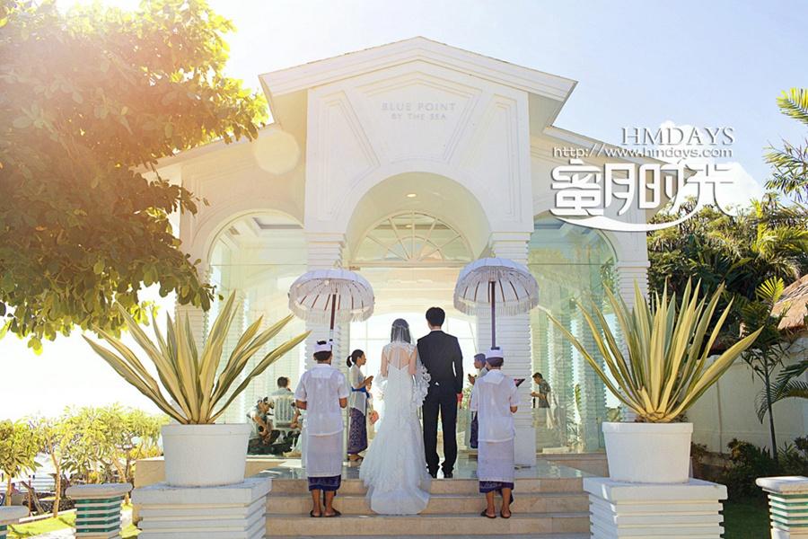 巴厘岛蓝点教堂婚礼婚纱照|准备入场|海外婚礼