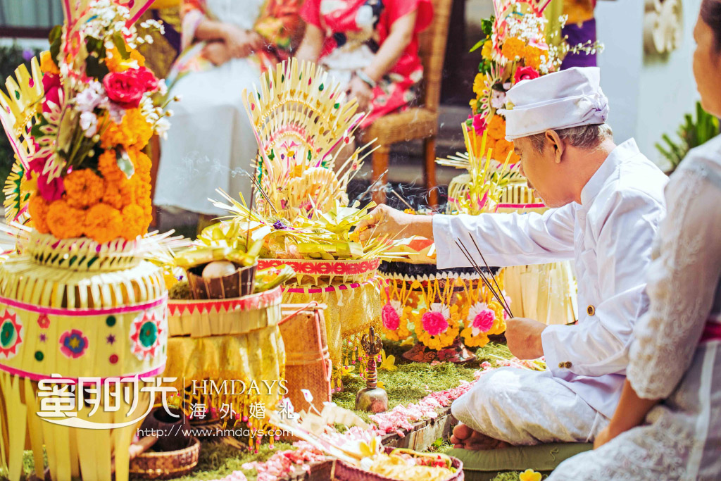巴厘岛传统大婚婚礼婚纱照片|海外婚礼|海外婚纱摄影|照片