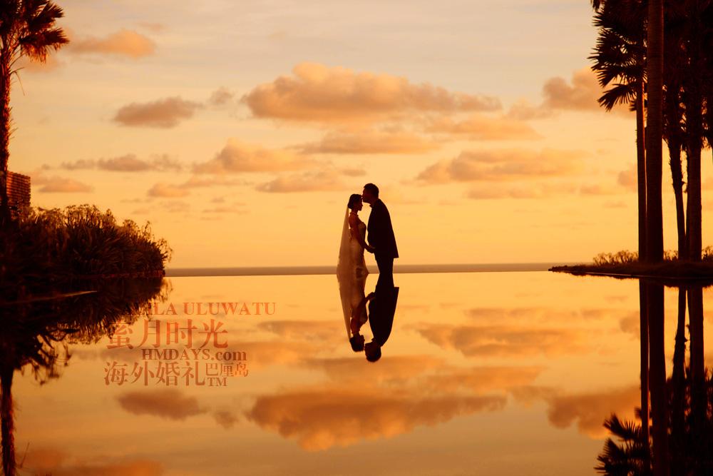 阿丽拉ALILA黄昏婚礼|黄昏绝美景色的巴厘岛|海外婚礼