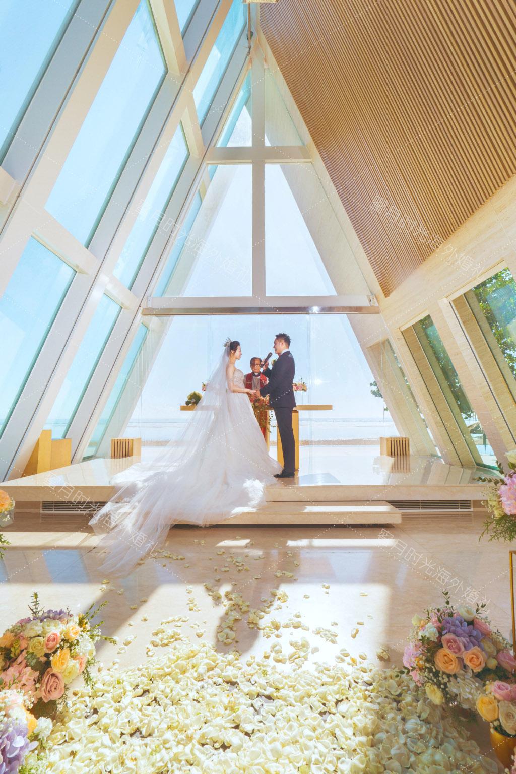 港丽无限教堂婚礼+升级布置|我愿意成为你的新郎一生一世|海外婚礼