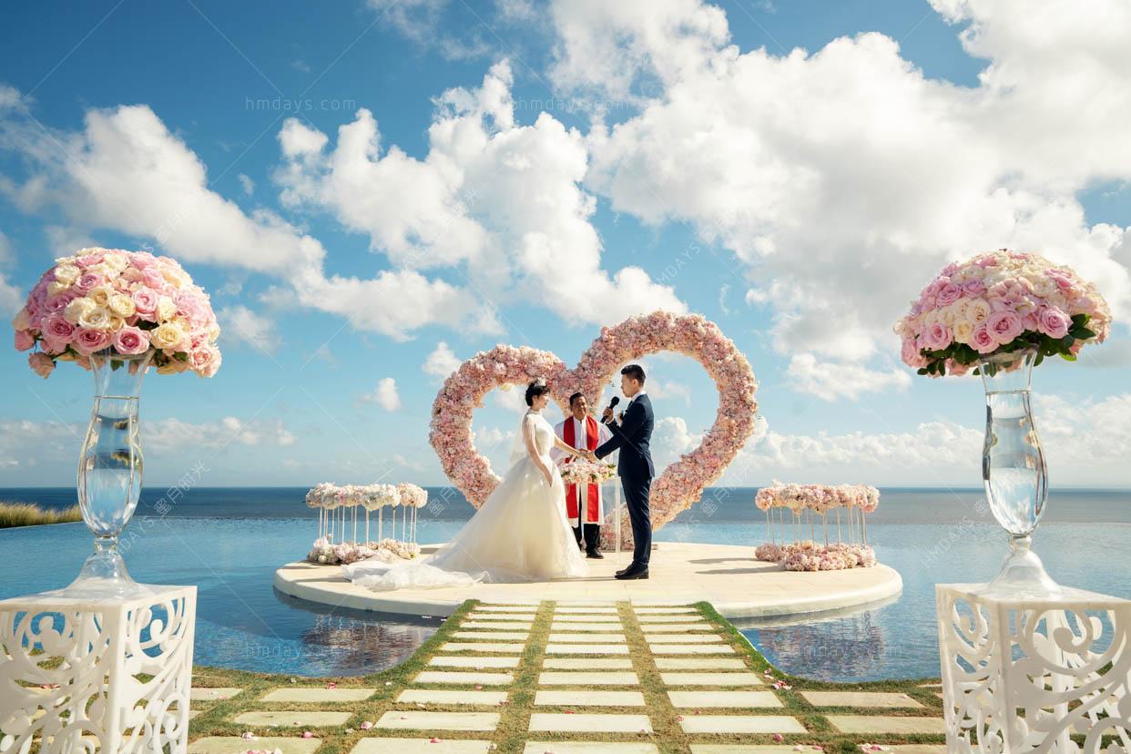 巴厘岛梦幻岛水台婚礼 海外婚礼 海外婚纱摄影 照片