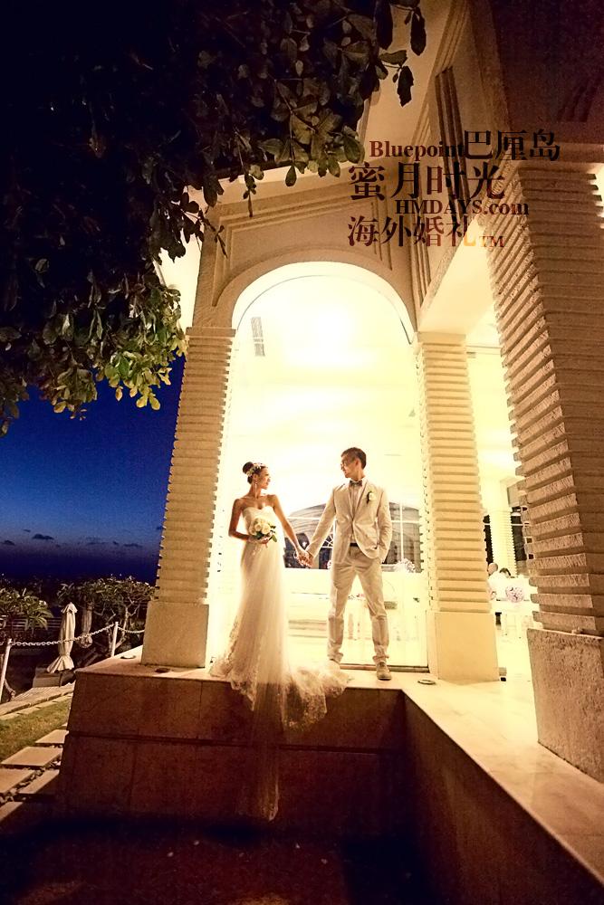 巴厘岛蓝点教堂婚礼--17:30档|夜间婚纱摄影(蓝点教堂)|海外婚礼