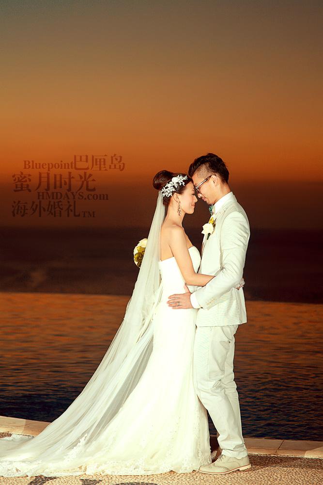 巴厘岛蓝点教堂婚礼--17:30档|蓝点夕阳婚纱摄影|海外婚礼