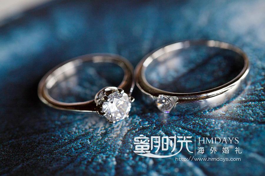 水之教堂婚礼 婚礼戒指特写 海外婚礼