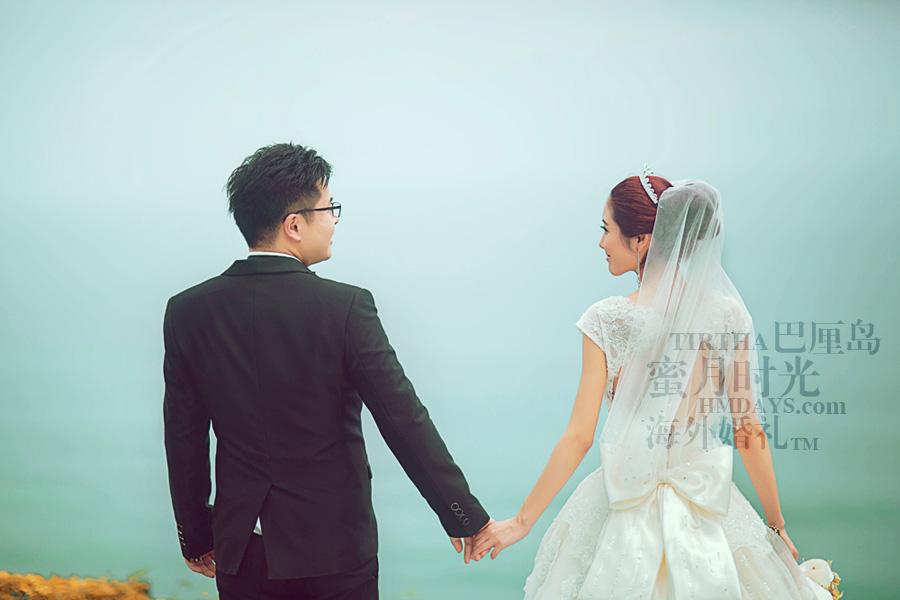 巴厘岛水之教堂婚礼+巴厘岛半日外景婚纱摄影|海外婚礼,凝望|海外婚礼