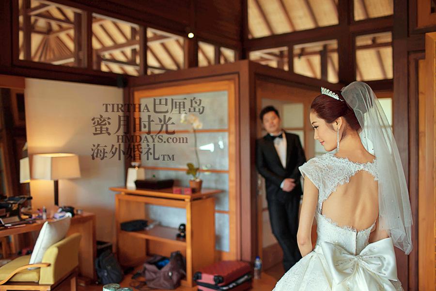 巴厘岛水之教堂婚礼+巴厘岛半日外景婚纱摄影|巴厘岛婚礼,tirtha化妆间|海外婚礼