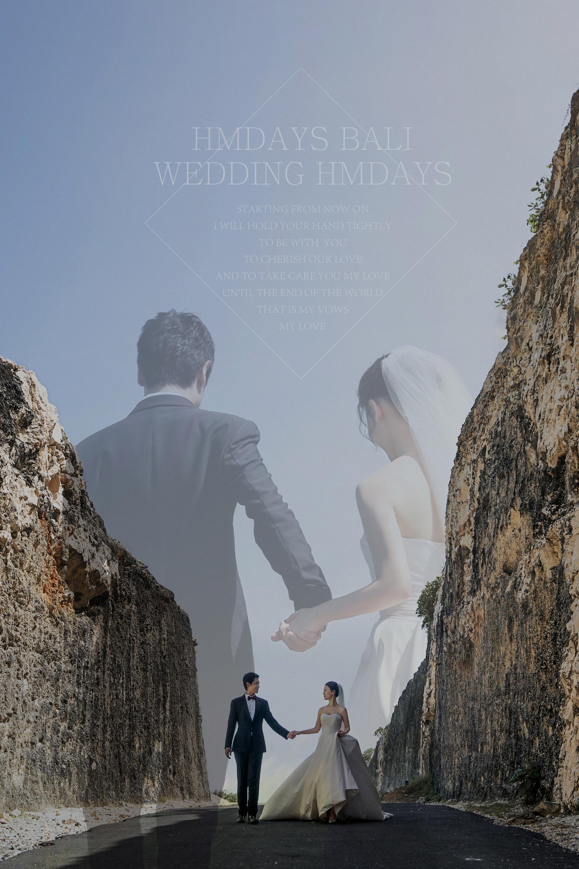 巴厘岛水之教堂婚礼婚纱照海报