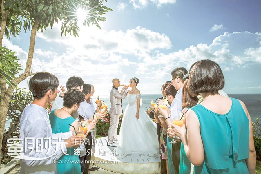 巴厘岛蓝点教堂婚礼|海外婚礼|海外婚纱摄影|照片