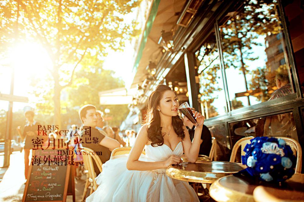 法国巴黎市区一日拍摄|法国婚纱照片|海外婚礼