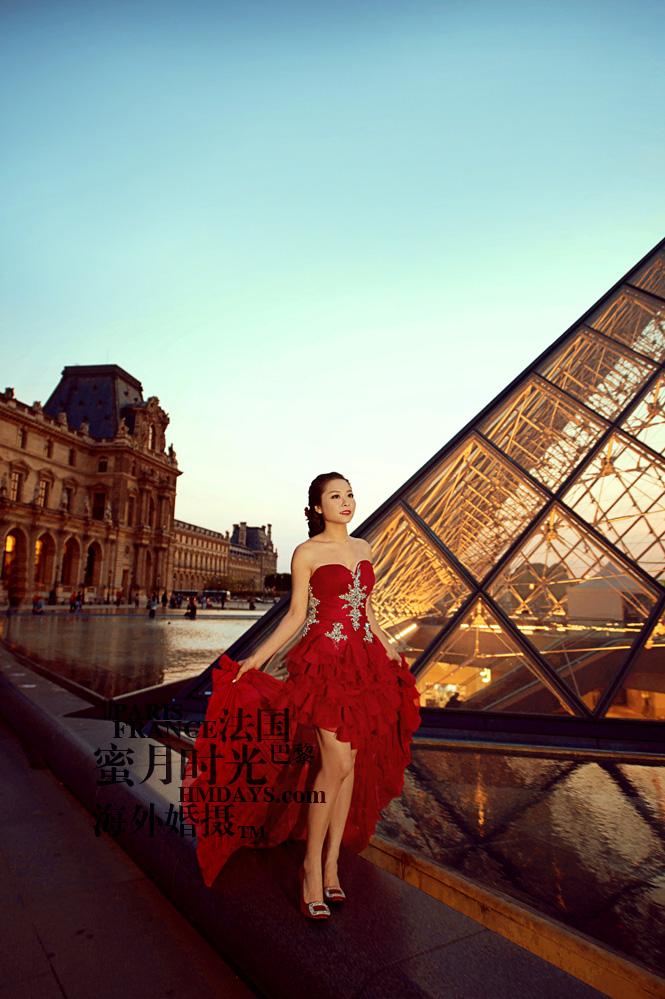法国巴黎市区一日拍摄|卢浮宫婚纱摄影|海外婚礼