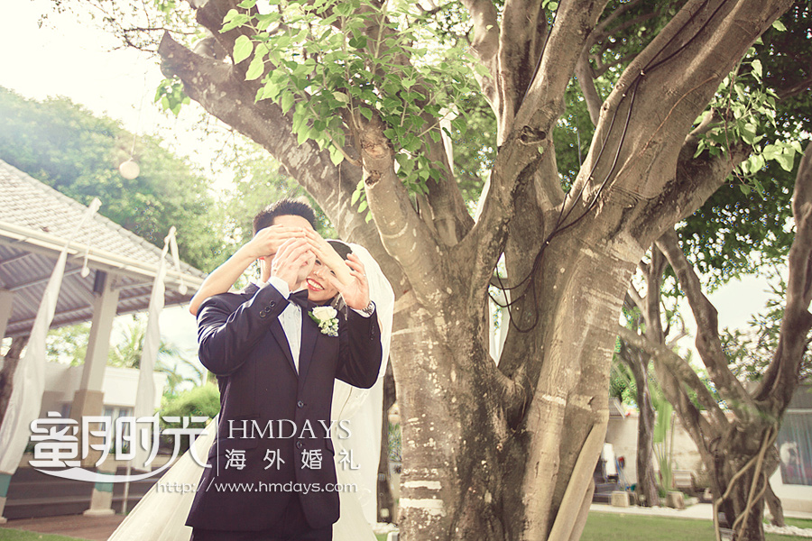 蜜月时光原创海岛沙滩婚礼 海外婚礼 海外婚纱摄影 照片