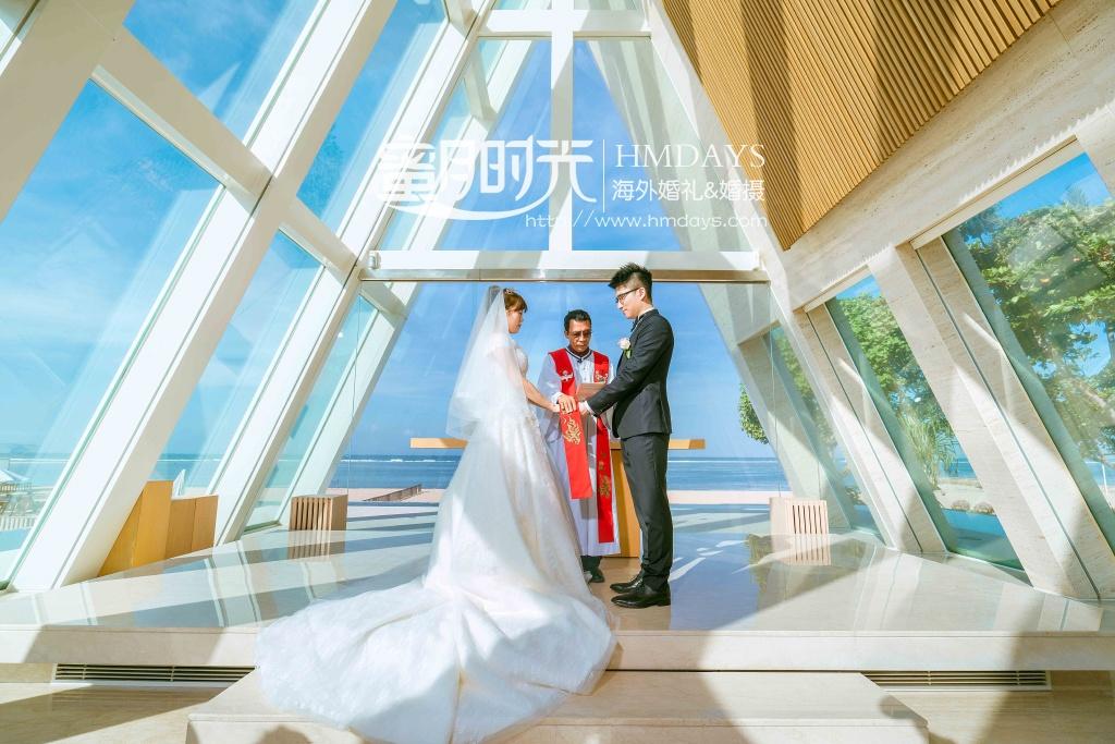 无限教堂婚礼+floating garden晚宴|巴厘岛康纳德教堂婚礼仪式|海外婚礼